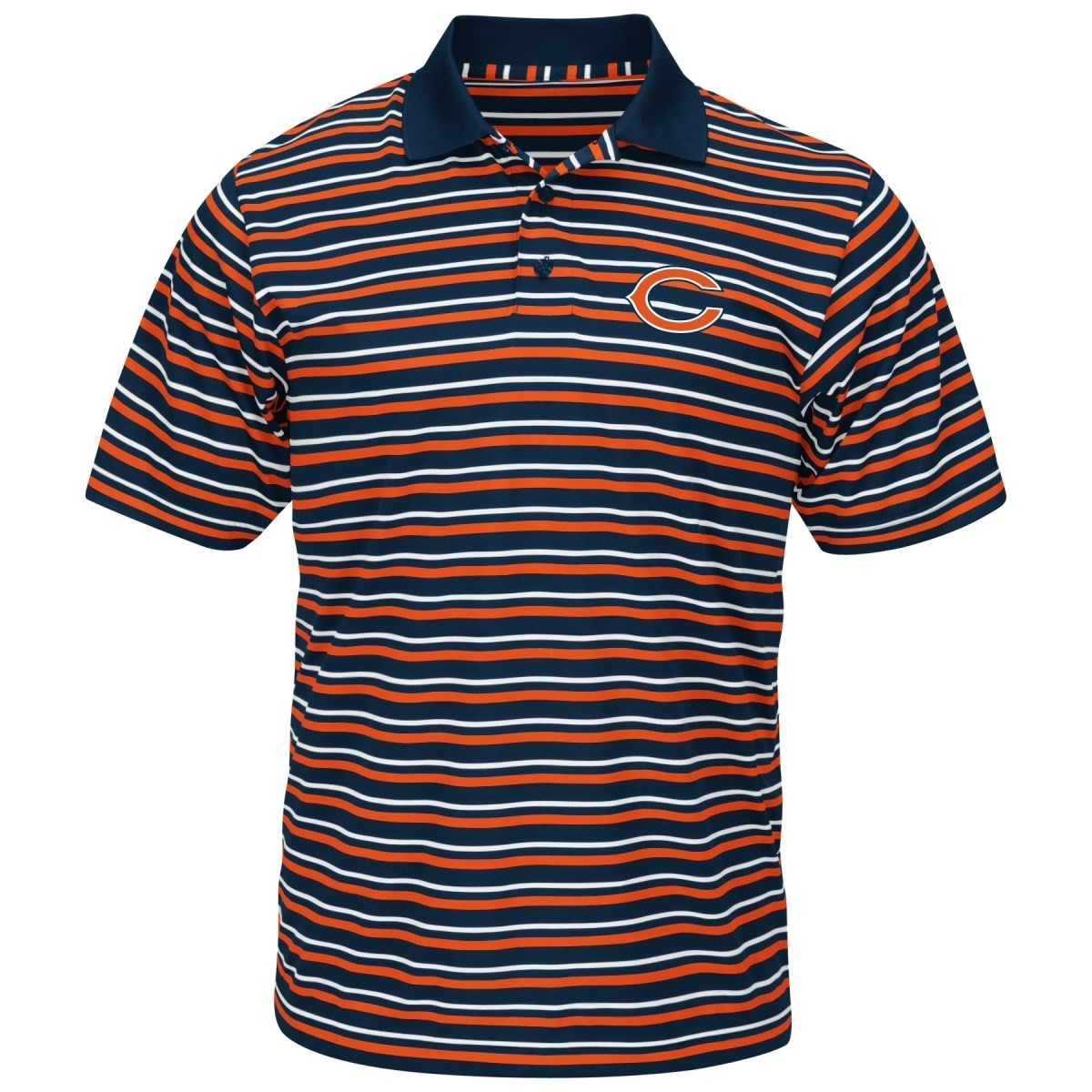 "Chicago Bears Majestic NFL ""Swift Attack"" Men's Cool Base Polo Shirt"