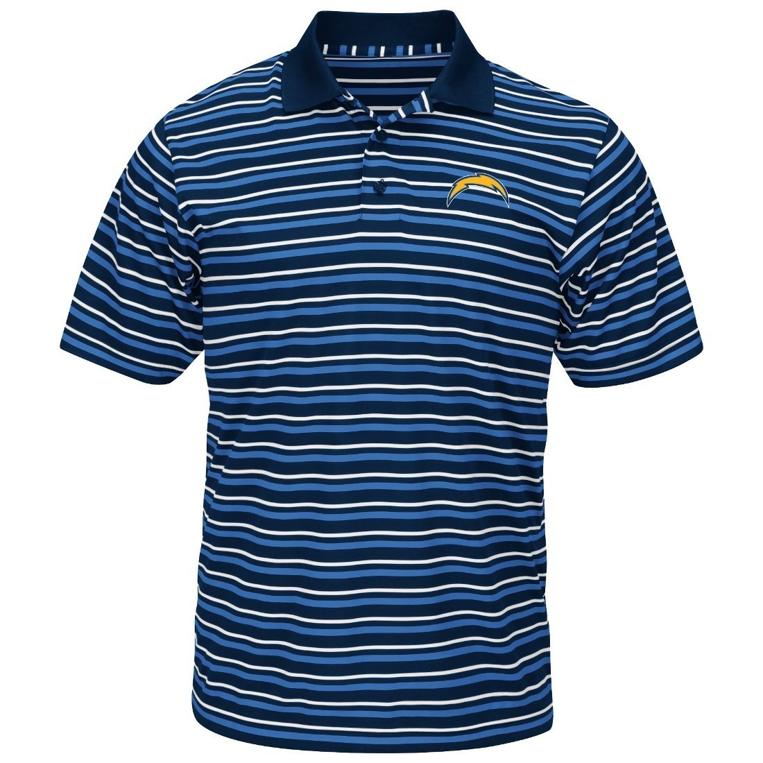 """San Diego Chargers Majestic NFL """"Swift Attack"""" Men's Cool Base Polo Shirt"""