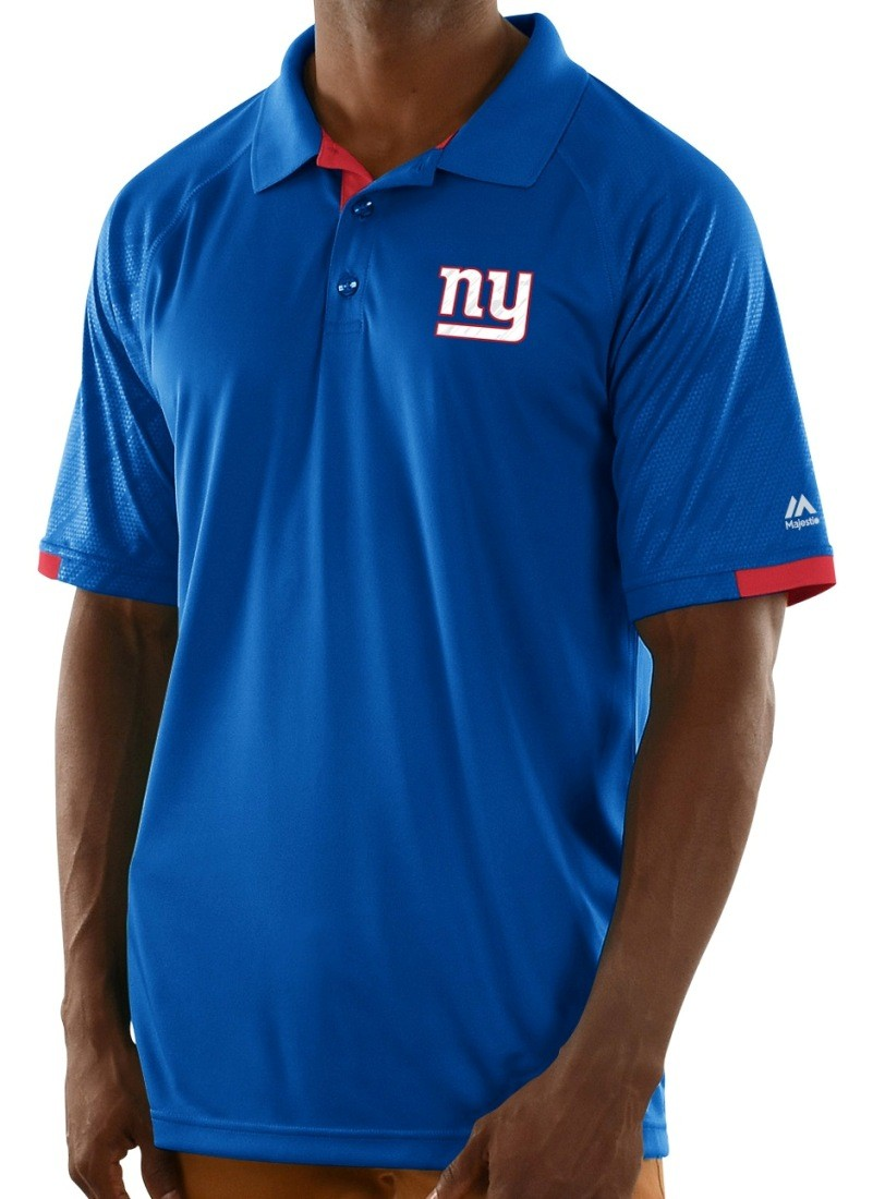 New york giants majestic nfl club level men 39 s short for Buffalo bills polo shirts
