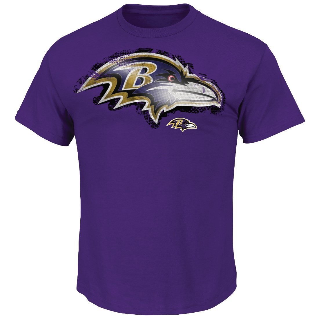 Baltimore Ravens Majestic NFL Line to Gain III Men's T-Shirt - Purple
