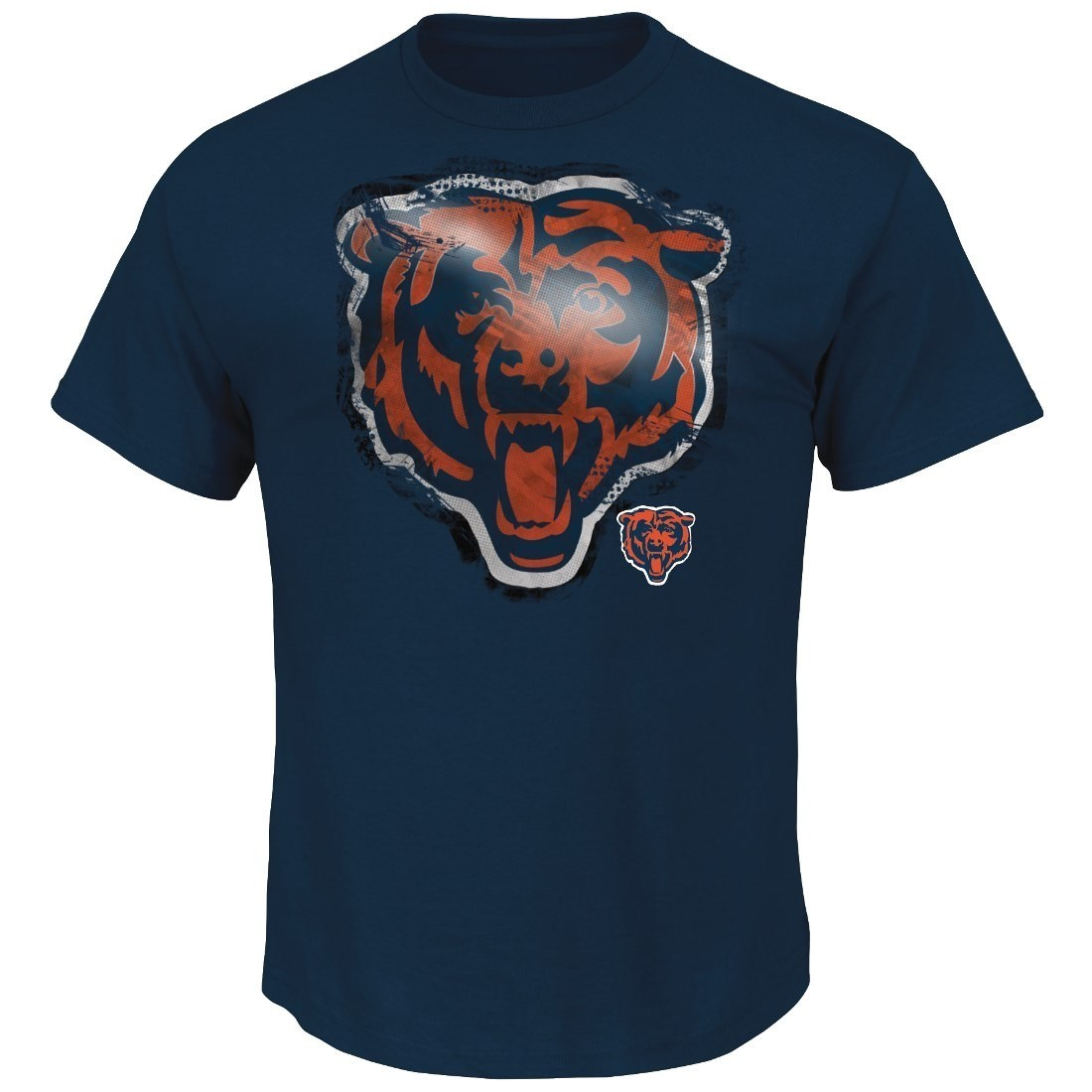 Chicago Bears Majestic NFL Line to Gain III Men's T-Shirt - Navy