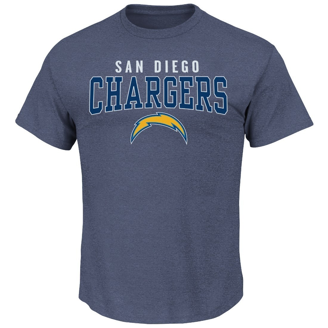 "San Diego Chargers Majestic NFL ""Red Zone"" Men's Short Sleeve Premium T-Shirt"