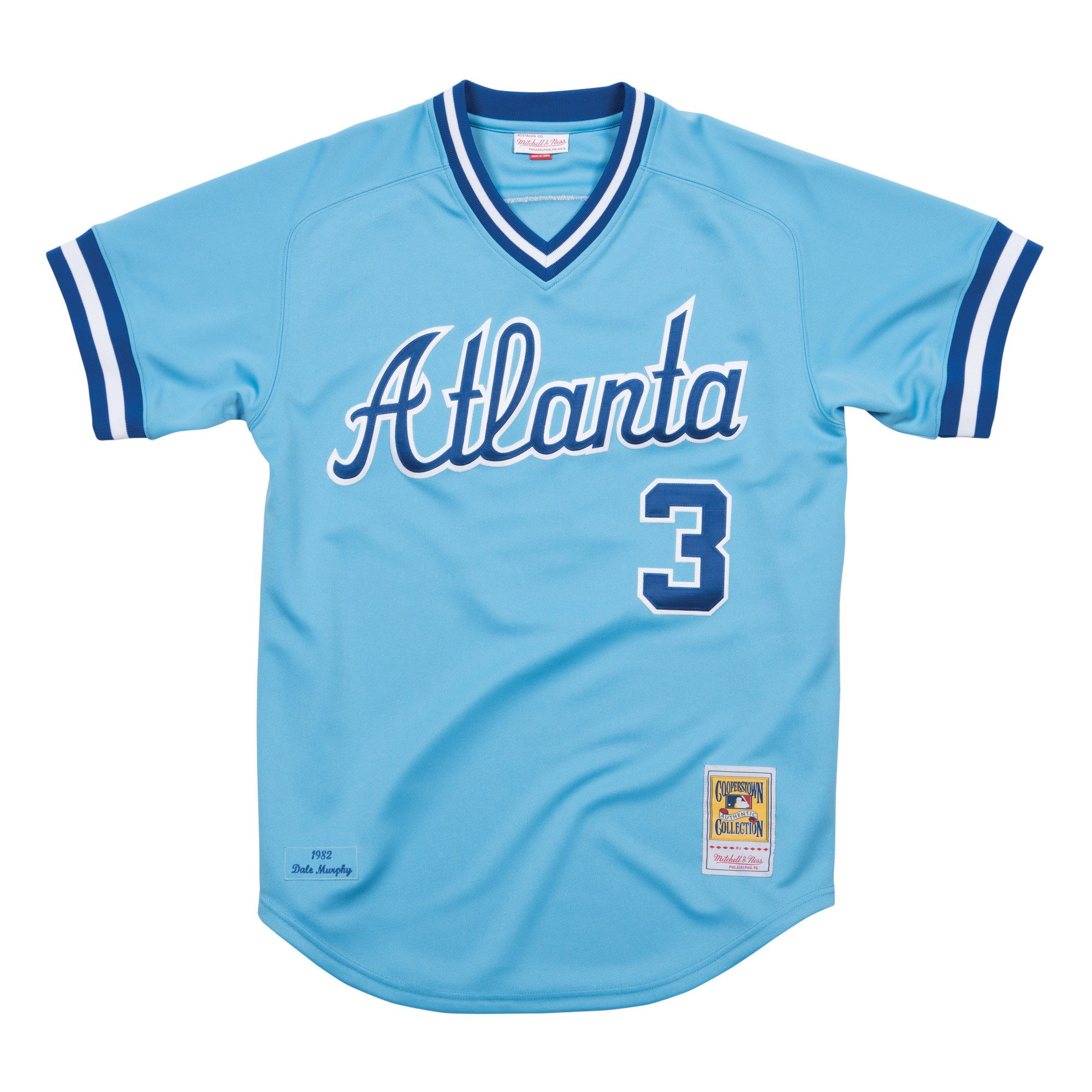 962b7b269 Details about Dale Murphy Atlanta Braves Mitchell   Ness MLB Authentic 1982 Road  Jersey