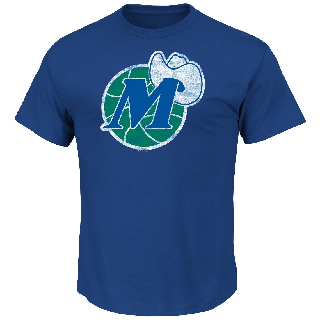 "Dallas Mavericks Majestic NBA Throwback ""Post Up"" Men's T-Shirt"