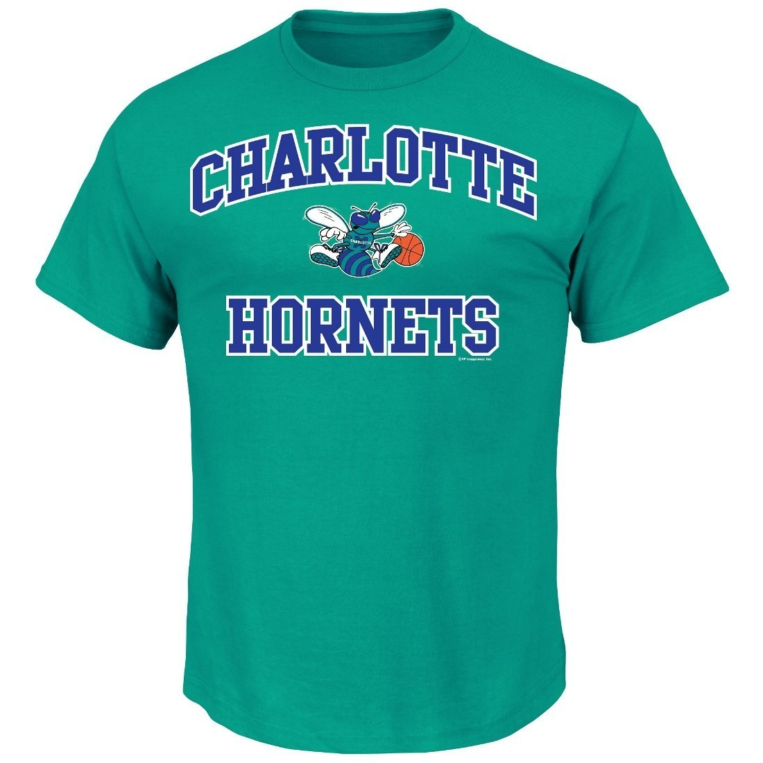"Charlotte Hornets Majestic NBA ""Heart & Soul"" Men's Aqua Short Sleeve T-Shirt"