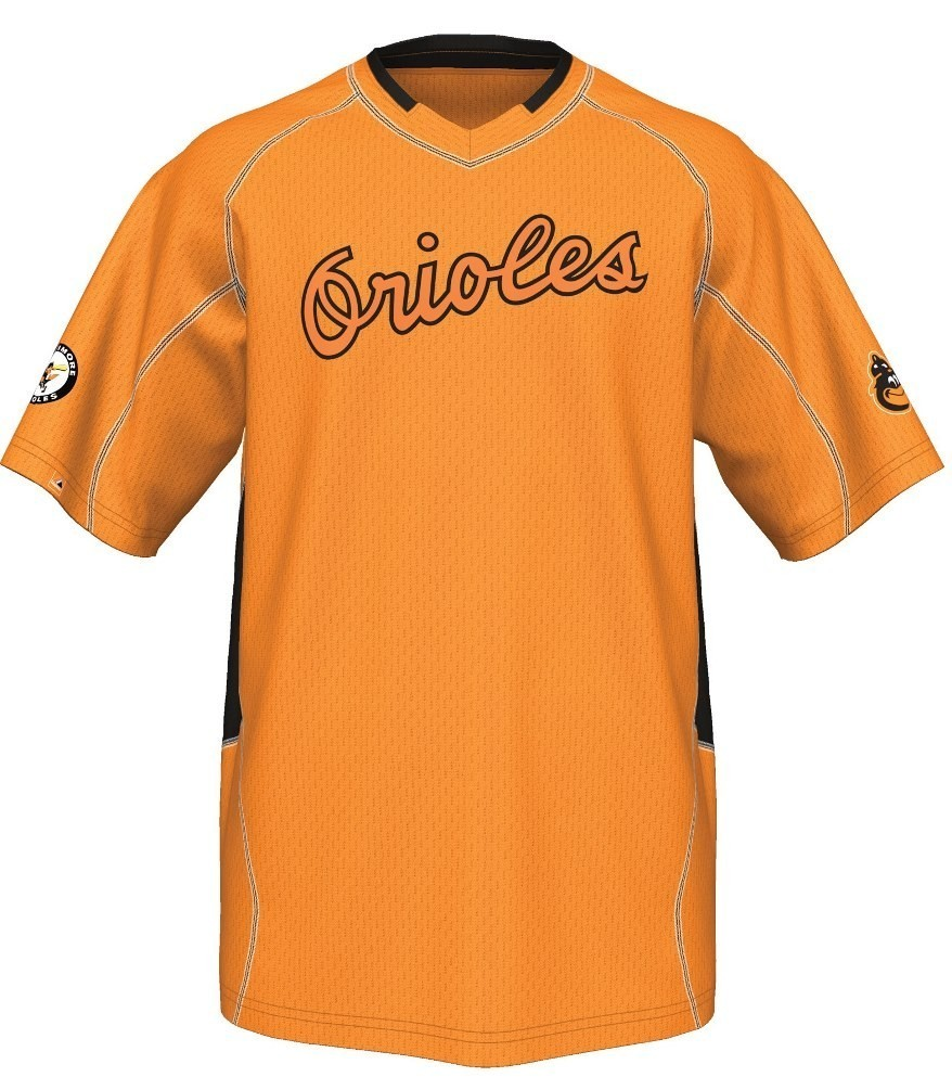 "Baltimore Orioles Majestic MLB  Cooperstown ""Vintage Champ"" V-Neck Jersey"