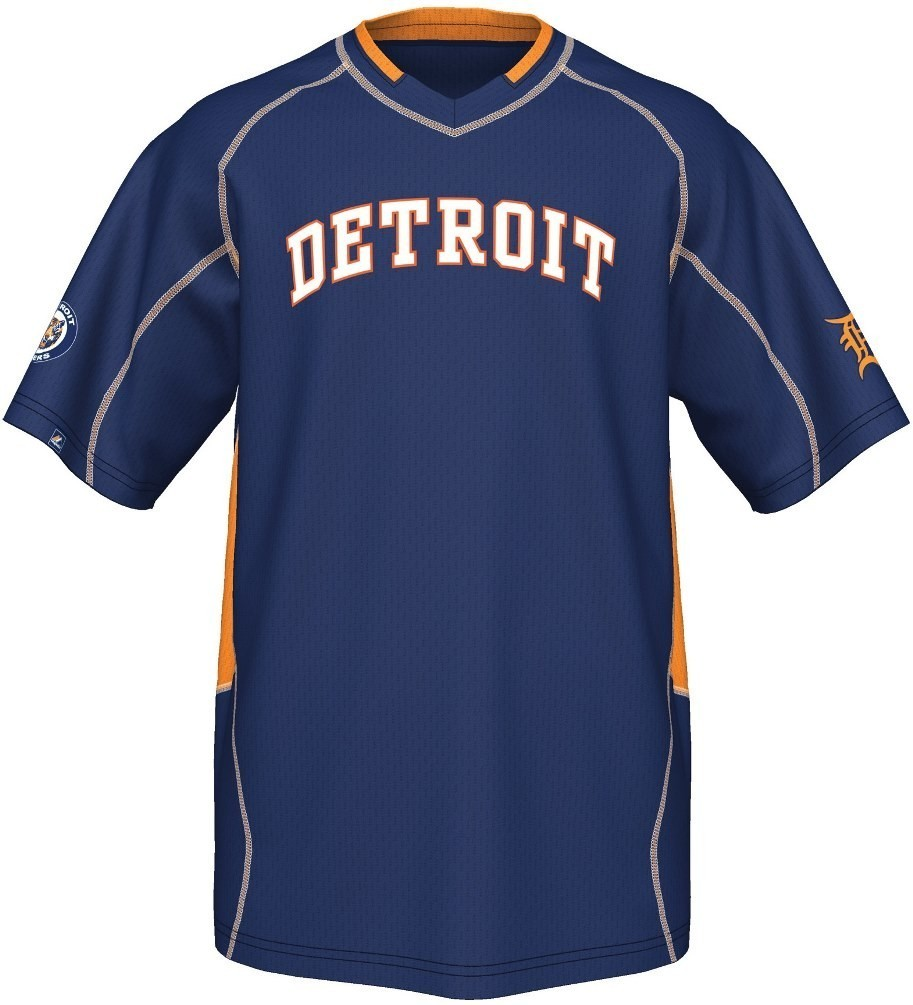 "Detroit Tigers Majestic MLB  Cooperstown ""Vintage Champ"" V-Neck Jersey"