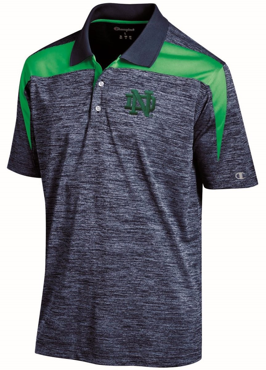 Notre dame fighting irish ncaa champion booster men 39 s for Notre dame golf shirts