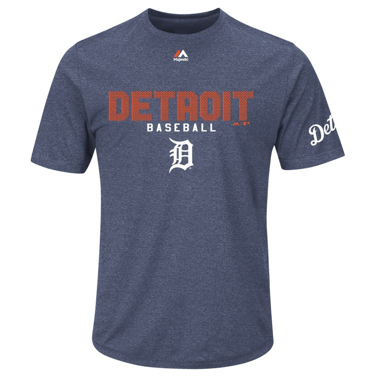 "Detroit Tigers Majestic MLB ""Field"" Cool Base Heathered Performance T-Shirt"
