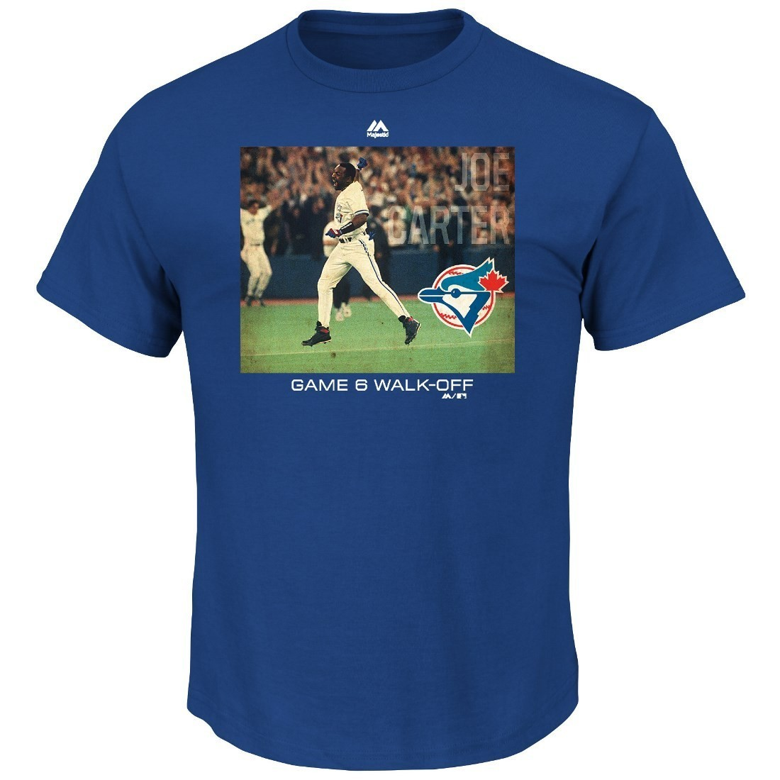 "Joe Carter Toronto Blue Jays MLB ""Genuine Player"" Cooperstown S/S T-Shirt"