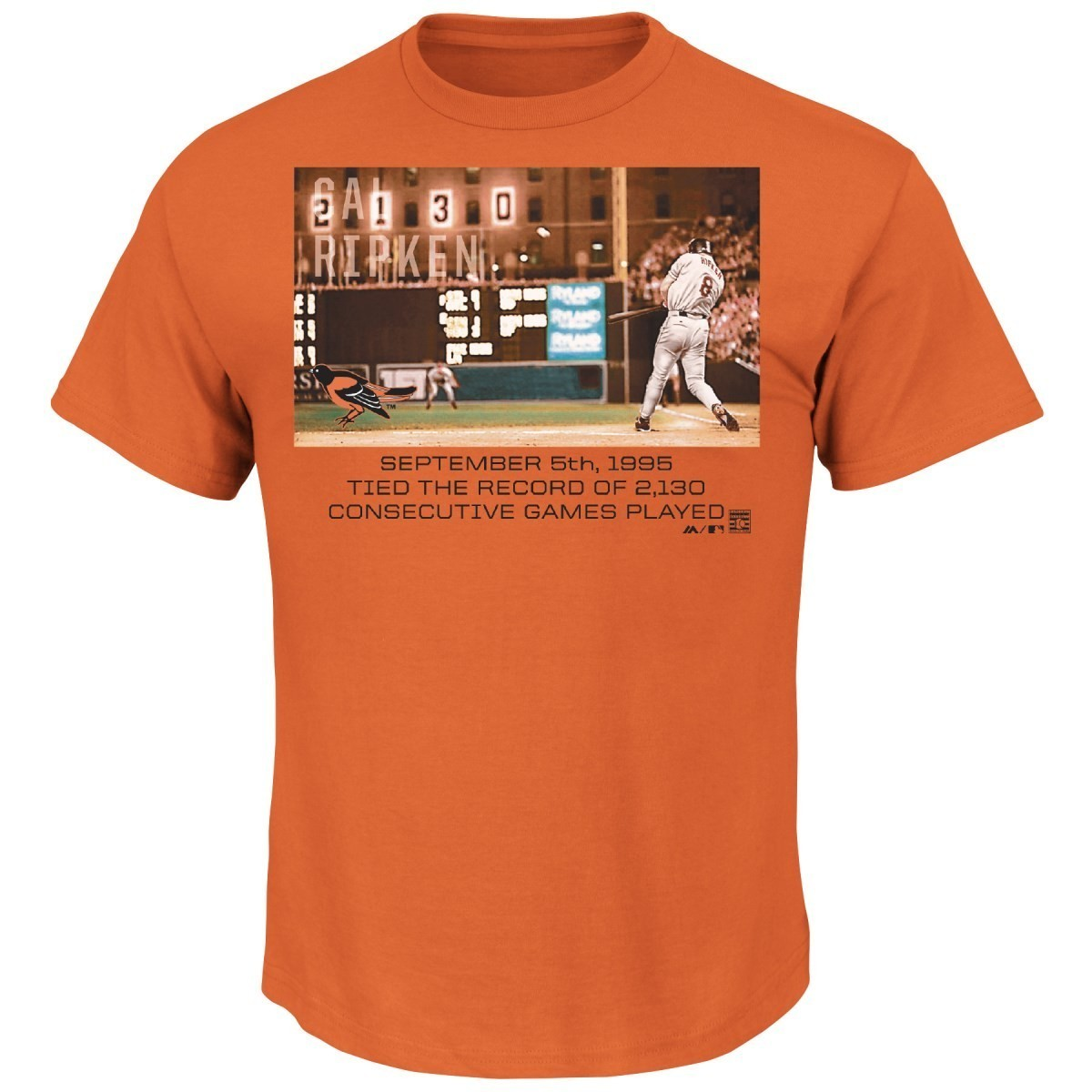 "Cal Ripken Jr. Baltimore Orioles MLB ""Genuine Player"" Cooperstown S/S T-Shirt"