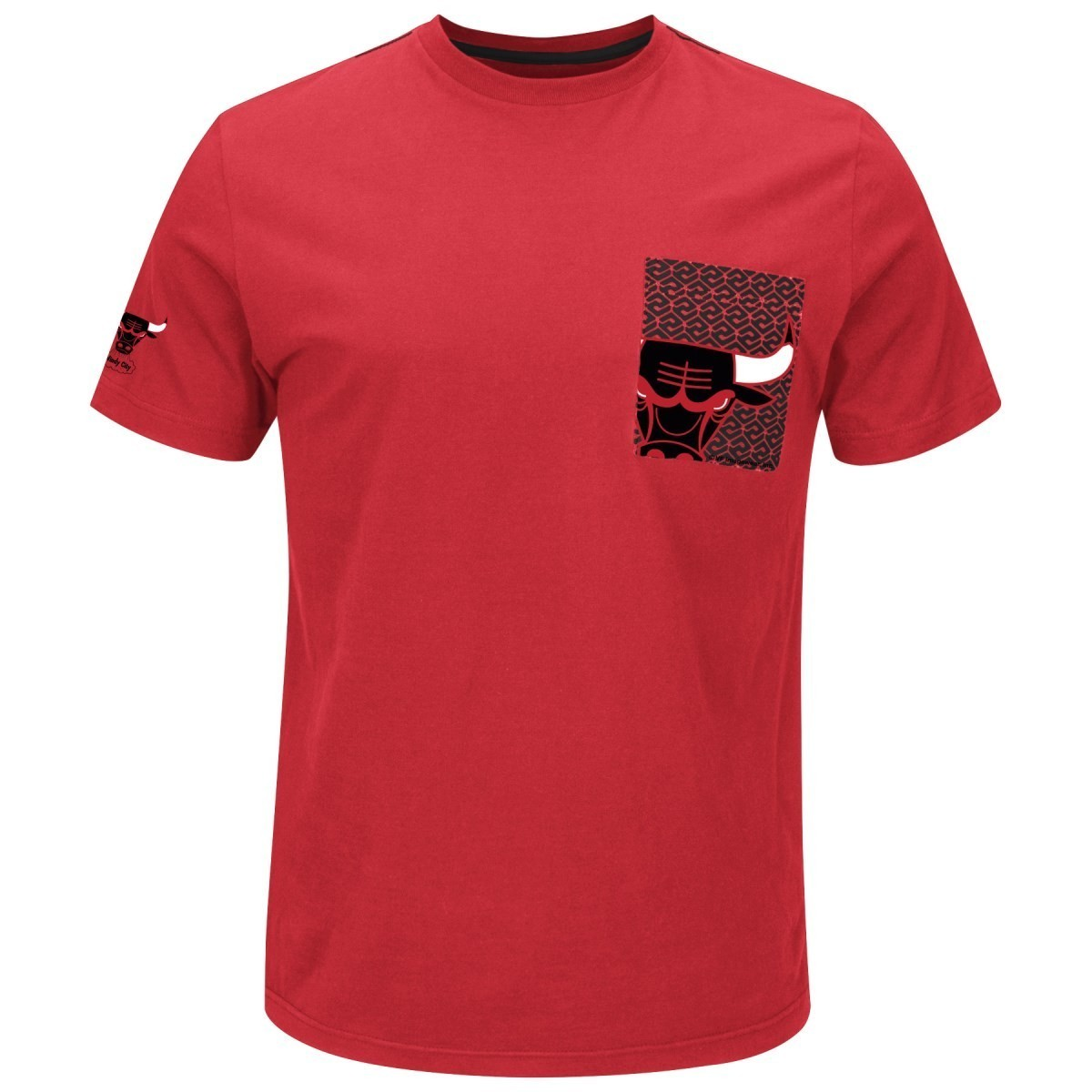"Chicago Bulls Majestic NBA ""Strong Drive"" Men's Pocket T-Shirt"