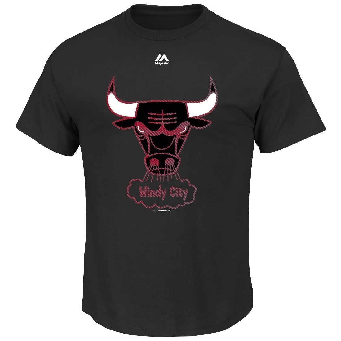 "Chicago Bulls Majestic NBA ""Renowned"" Short Sleeve Men's Vintage T-Shirt"