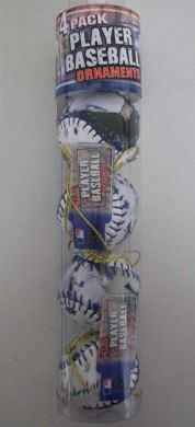 Joba Chamberlain Yankees MLB Player Baseball Ornaments 4 Pack