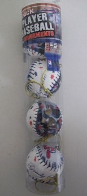 Grady Sizemore Indians MLB Player Baseball Ornaments 4 Pack