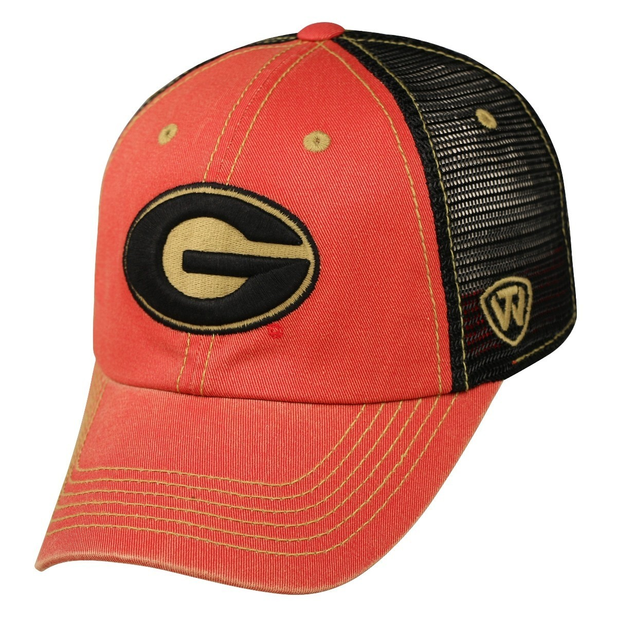 georgia bulldog hats georgia bulldogs ncaa top of the world quot past quot adjustable 512