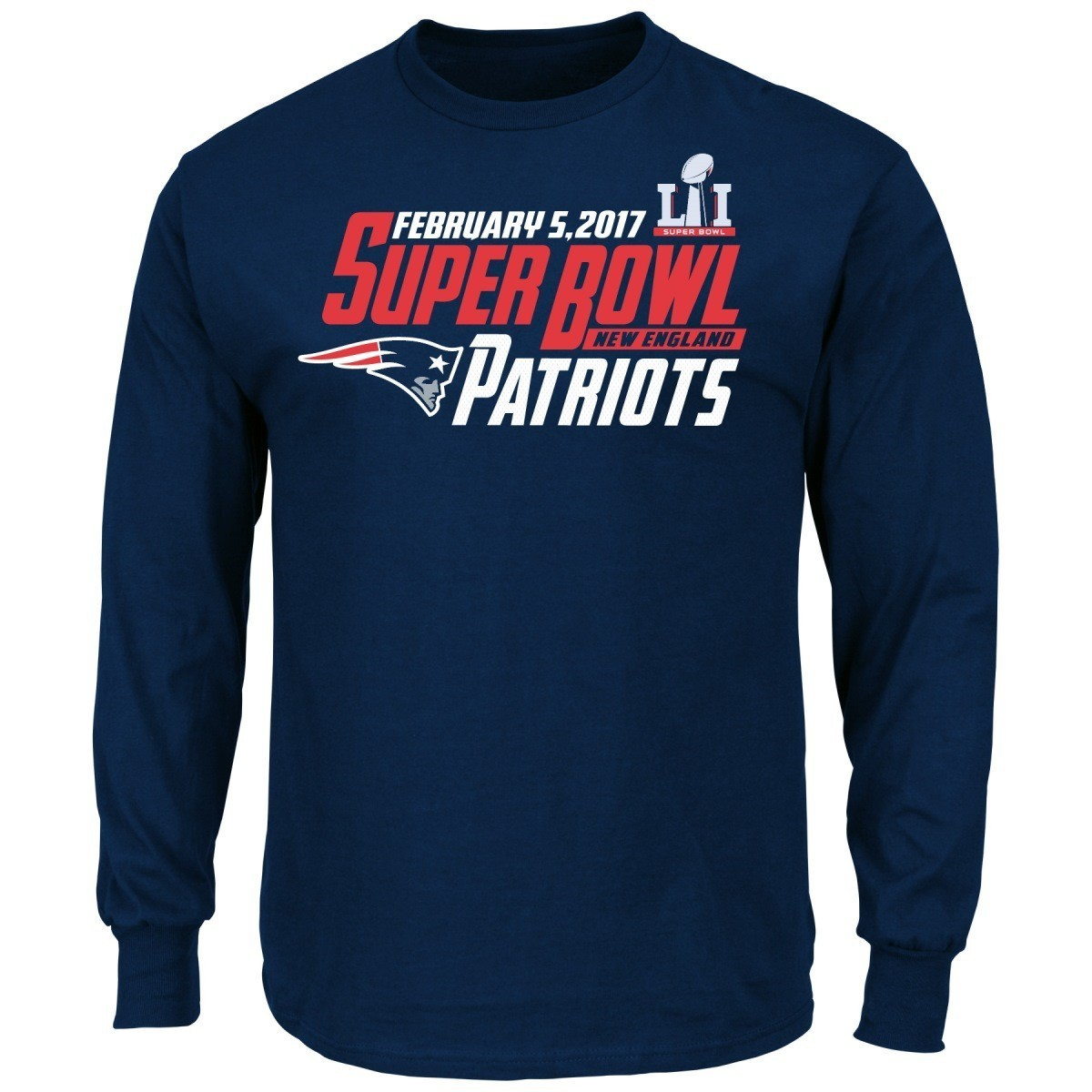 Buy new england patriots majestic nfl super bowl li 51 New england patriots shirts