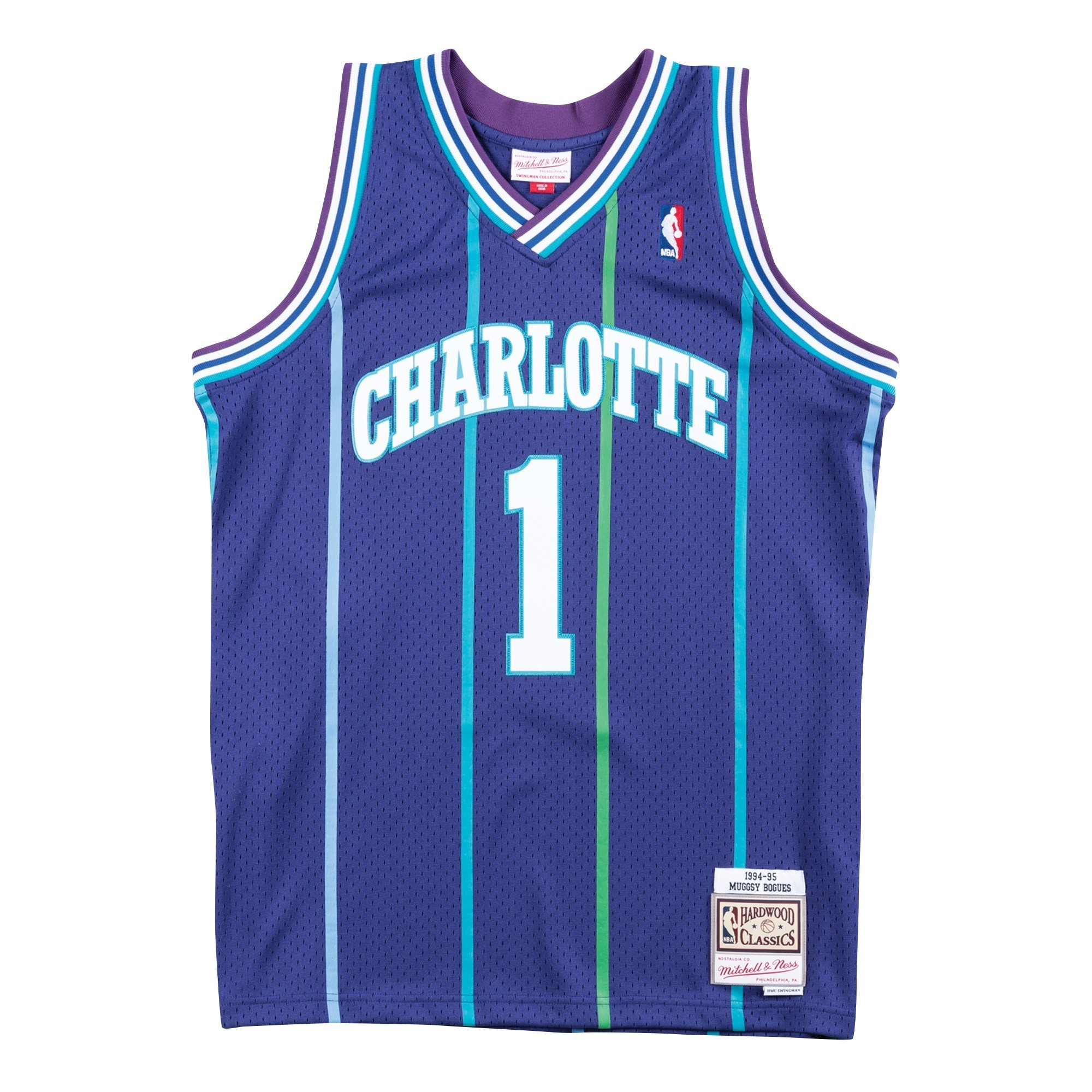 c637796ff266 Details about Muggsy Bogues Charlotte Hornets Mitchell   Ness NBA Swingman  94-95 Jersey