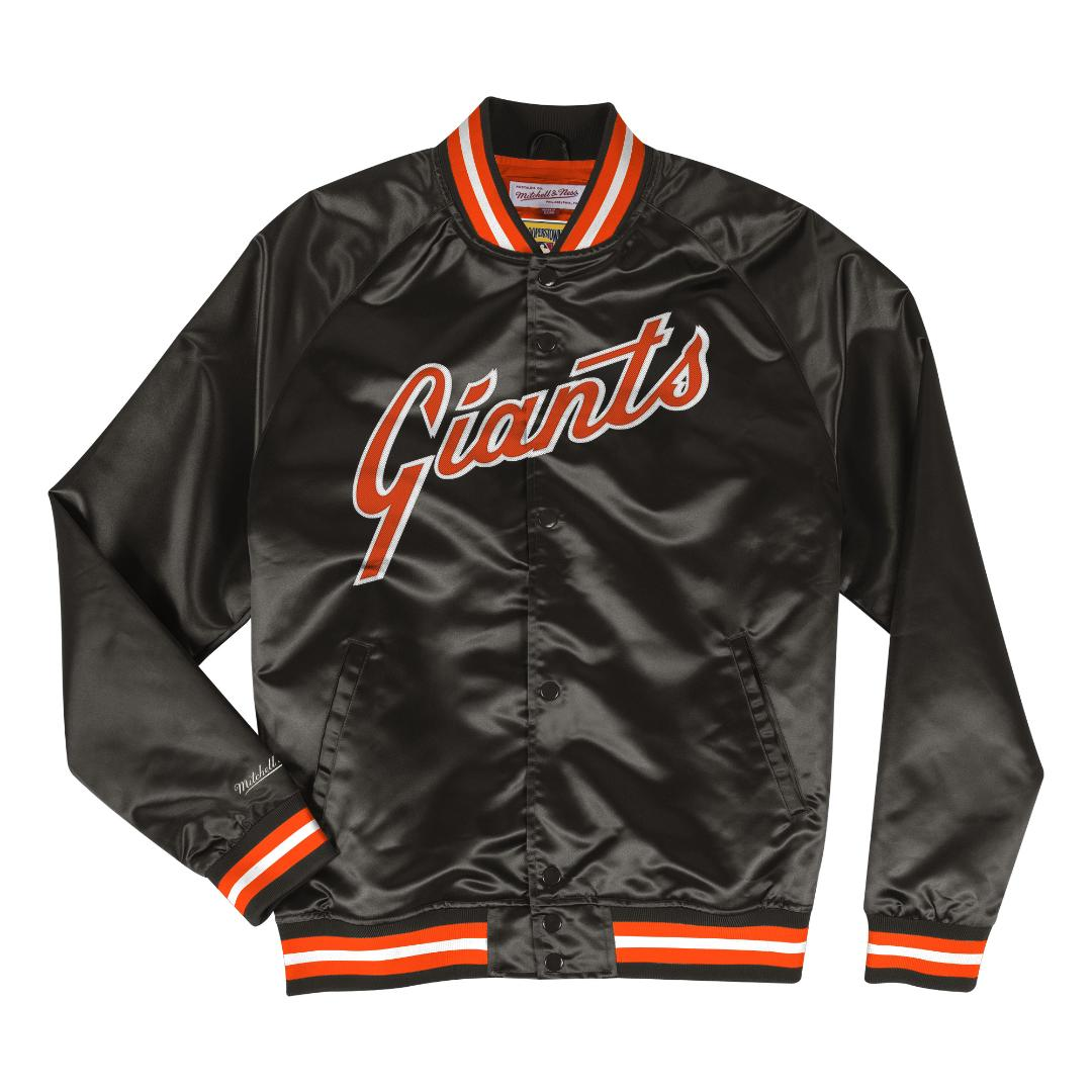 aae5abb90 Details about San Francisco Giants Mitchell & Ness MLB Men's Big Time  Lightweight Satin Jacket