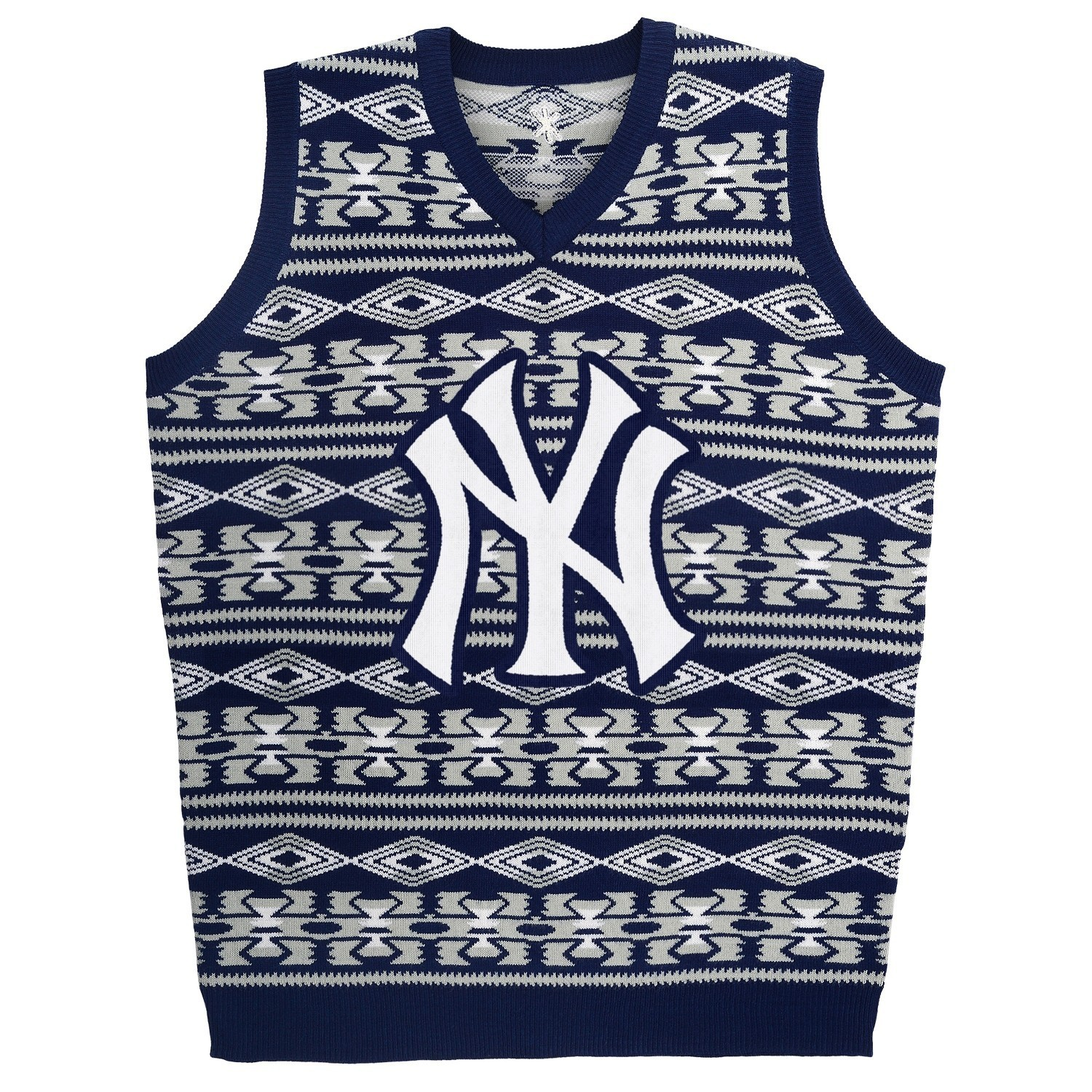 "New York Yankees MLB Men's ""Aztec Print"" Ugly Sweater Vest"
