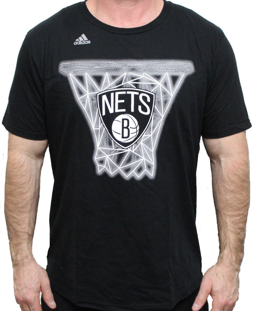 "Brooklyn Nets Adidas NBA ""Net Web"" Men's Short Sleeve T-Shirt"