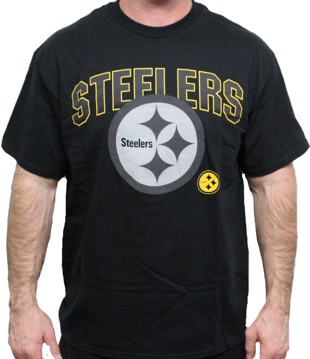 "Pittsburgh Steelers Majestic NFL 2015 ""Reflective"" S/S Men's Black T-Shirt"