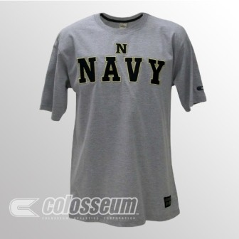 Navy Licensed Embroidered Logo T-Shirt
