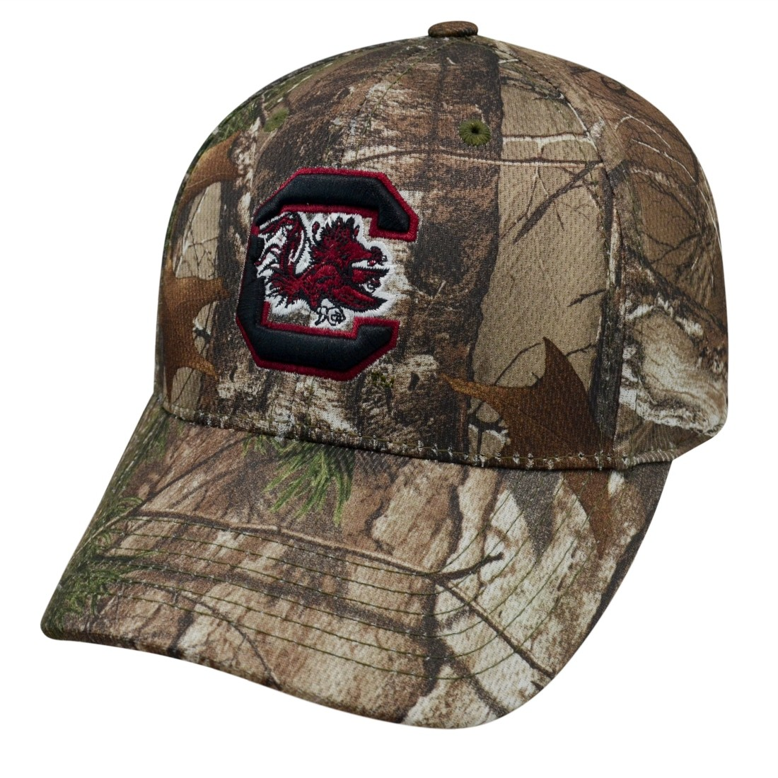 26ae2fe90963e Details about South Carolina Gamecocks NCAA Top of the World Xtra RealTree  Camo Memory Fit Hat