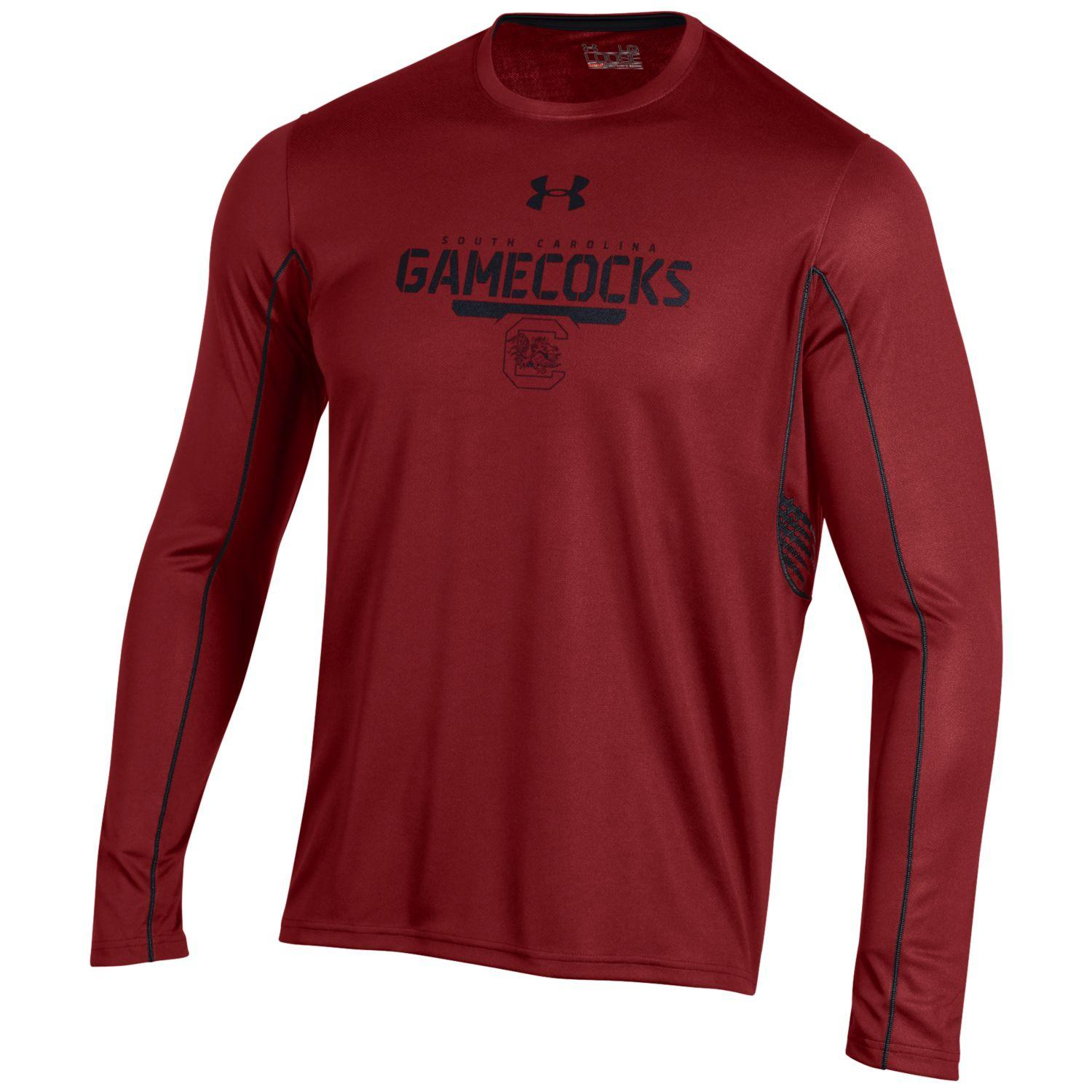 "South Carolina Gamecocks Under Armour NCAA ""Post Route"" Performance L/S Shirt"