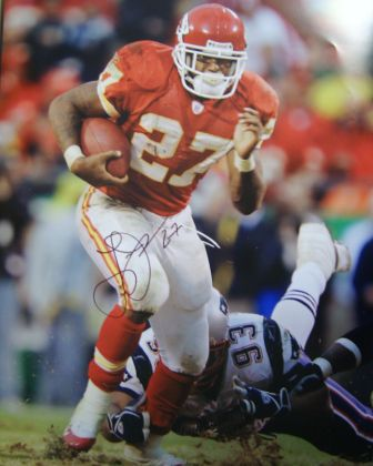 Larry Johnson Signed Chiefs 16x20