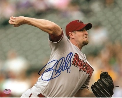 Brandon Webb Signed Dbacks 8x10 - Horizontal