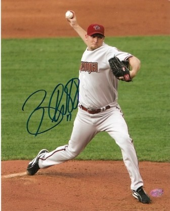 Brandon Webb Signed Dbacks 8x10 - Gray Jersey