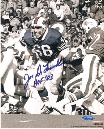 Joe Delamallieure Signed Bills B&W 8x10