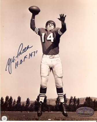 Y.A. Tittle Signed Giants HOF 1971 8x10
