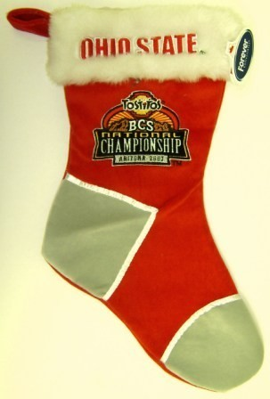 Ohio State BCS Championship Plush Christmas Stocking