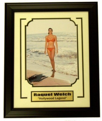 Raquel Welch in Bikini 8x10 Framed w/Plate