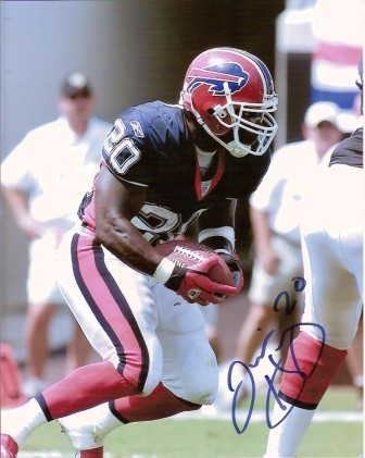 Travis Henry Signed 8x10 Bills