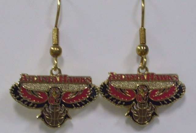 NBA Dangling Earrings - Atlanta Hawks Logo