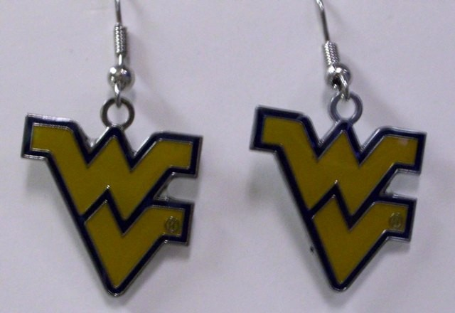 NCAA Dangling Earrings - West Virginia Mountaineers Logo