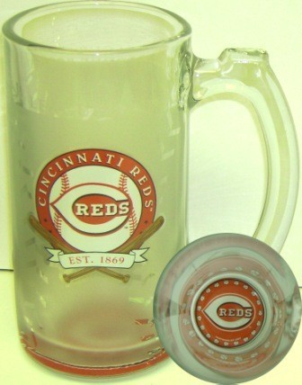 Cincinnati Reds 13 Oz. Glass Sports Mug