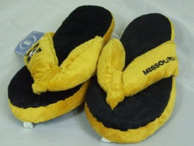 Missouri Tigers NCAA Flip Flop Thong Slippers