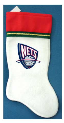 New Jersey Nets NBA Christmas Stocking