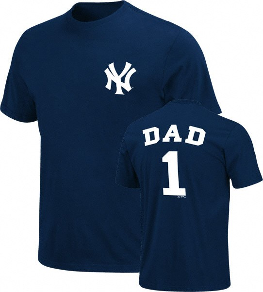 New York Yankees #1 Dad Name and Number T-Shirt