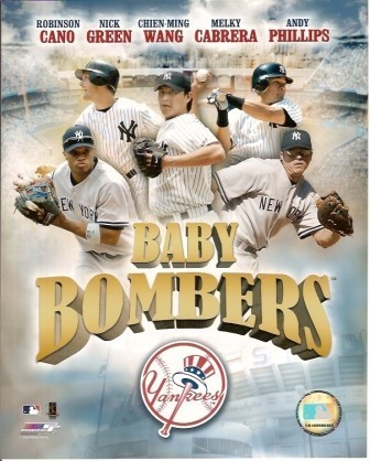 New York Yankees Baby Bombers 8x10 Color Photo