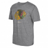"Chicago Blackhawks CCM ""Retro Logo Alternate"" Distressed Tri-Blend Gray T-Shirt"