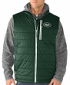"""New York Jets G-III NFL """"Double Track"""" Systems 3-in-1 Premium Vest Jacket"""