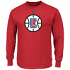 "Los Angeles Clippers Majestic NBA ""Supreme Logo"" Men's Long Sleeve T-Shirt"