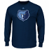 "Memphis Grizzlies Majestic NBA ""Supreme Logo"" Men's Long Sleeve T-Shirt - Navy"