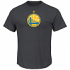 "Golden State Warriors Majestic NBA ""Supreme Logo"" Men's S/S T-Shirt - Charcoal"