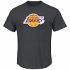 "Los Angeles Lakers Majestic NBA ""Supreme Logo"" Men's S/S T-Shirt - Charcoal"